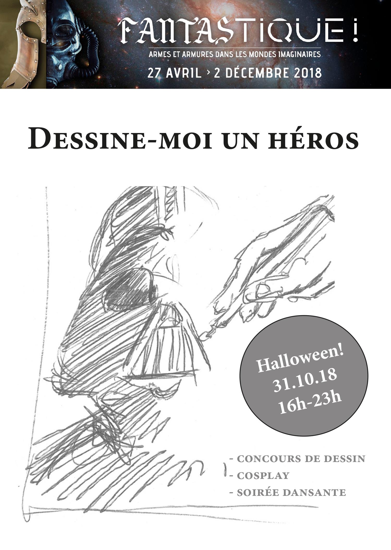 Affiche heros la maison du dessin de presse