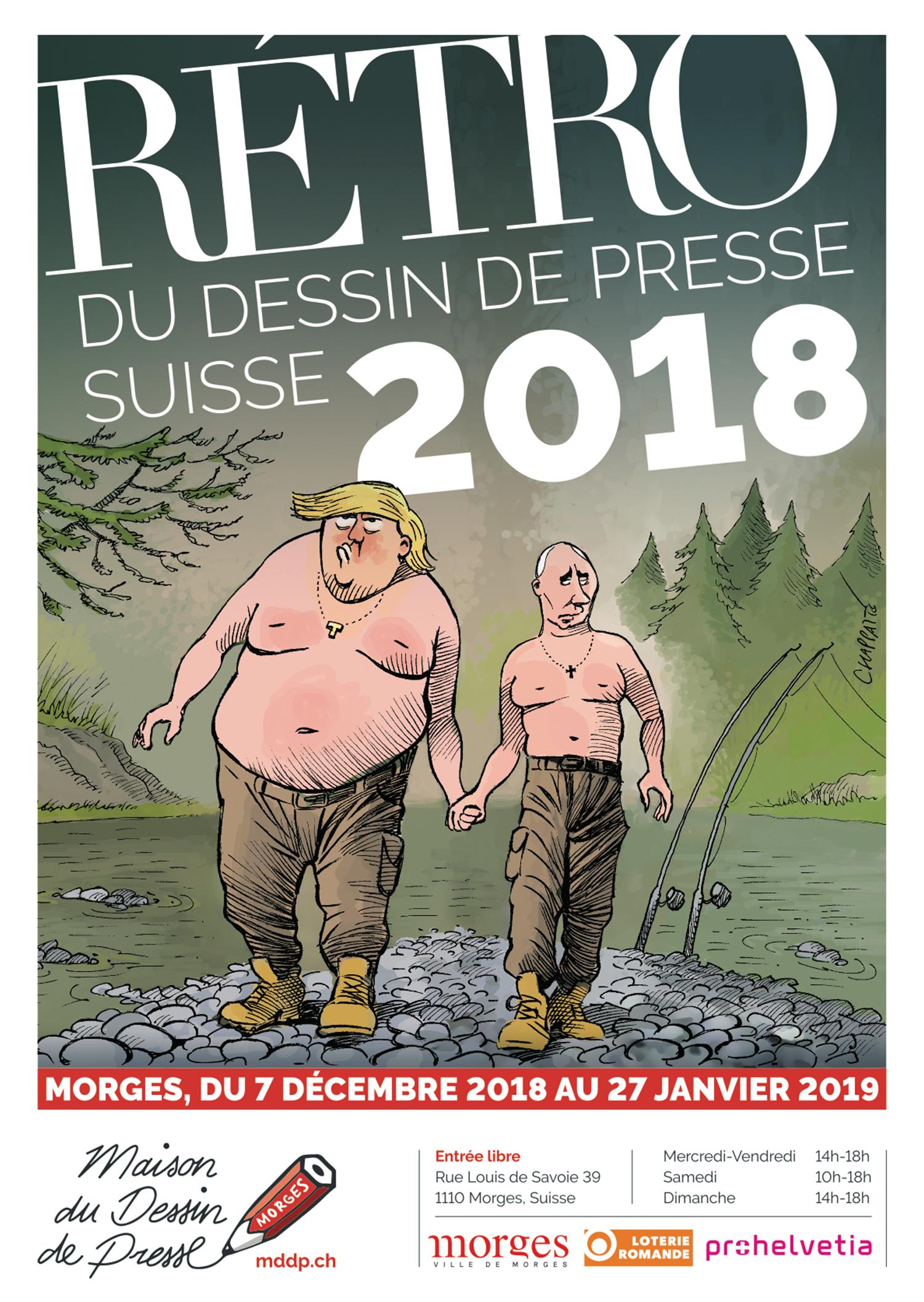 Rétrospective du dessin de presse suisse 2018