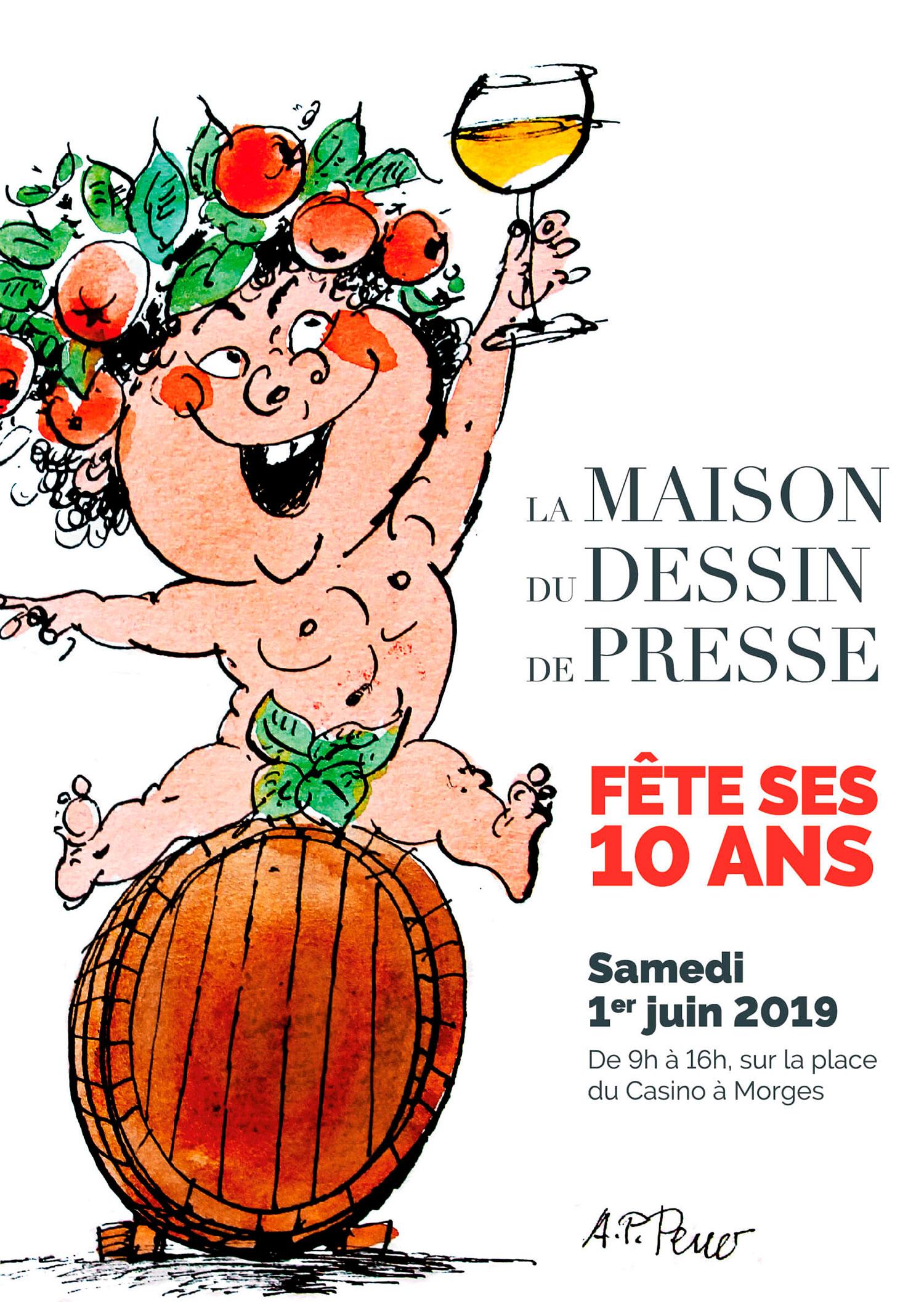 La maison du dessin de presse fête ses 10 ans